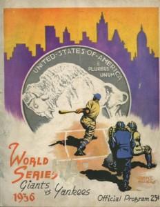 1936 yankees giants program