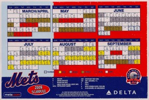 2008 Mets Magnetic Schedule