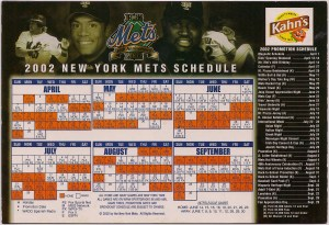 2002 Mets magnetic schedule