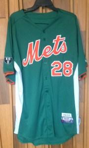 2012 daniel murphy mets st. patrick's day jersey