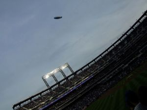 blimp on Opening Day 2009
