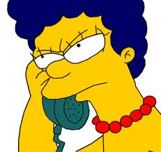 marge simpson phone