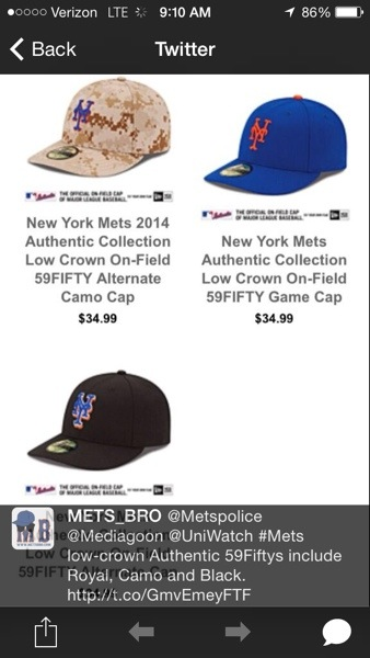Mets Low Crown 59Fifty Game Cap Available - The Mets Police 4d91cce84d5