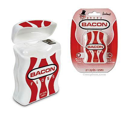 Zahnpflege ist wichig und macht Dank Zahnseide mit Bacongeschmack schon am frühen Morgen Spaß!