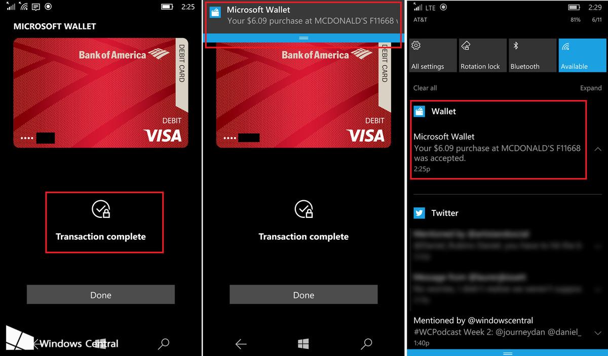 Carteira 2.0 windows 10 mobile pode finalmente suportar pagamentos via nfc