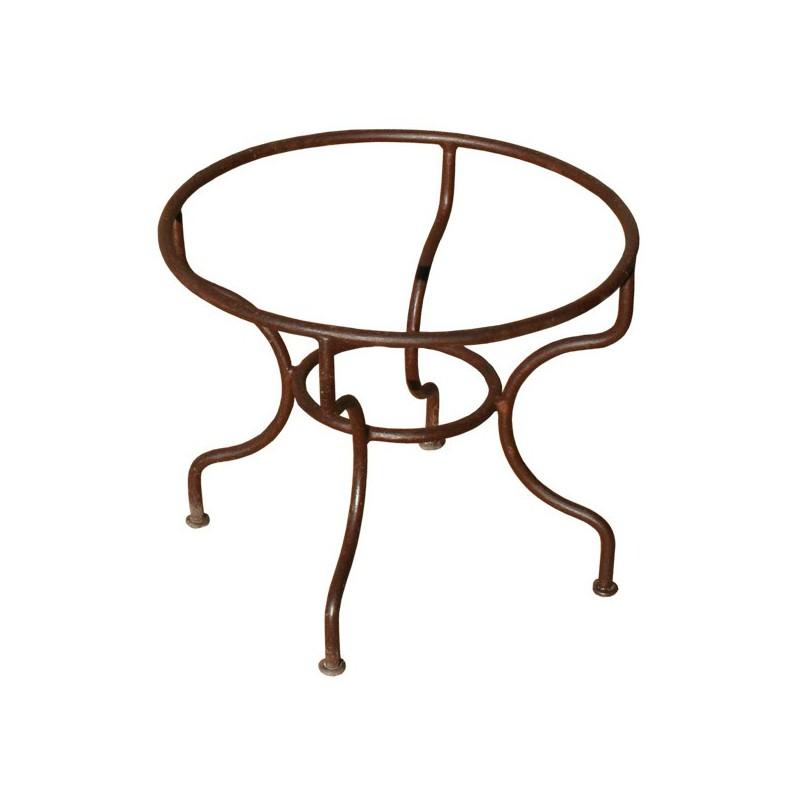 pietement table basse rond simple fer forge plein