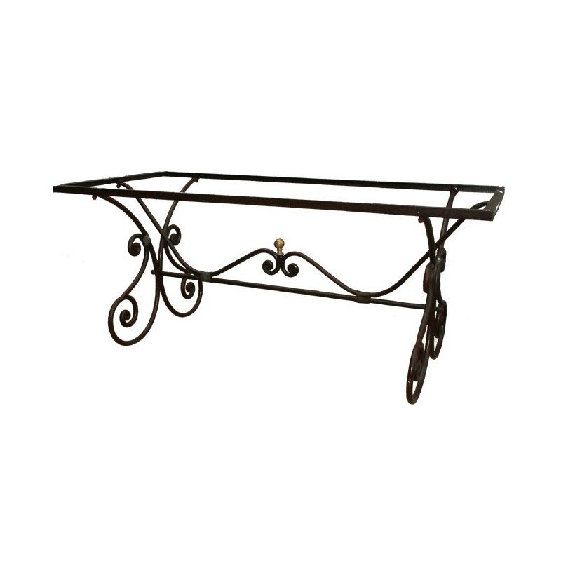 pied table fer forge isis
