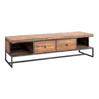 meuble tv plasma bois et metal 180 cm bronx