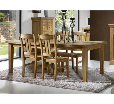 table rectangulaire avec allonges chene massif 200 ou 220 cm bianca