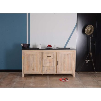 meuble double vasque contemporain pierre noir et bois massif