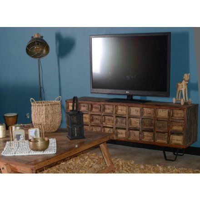 meuble tele apothicaire en bois recycle collection nepalaise