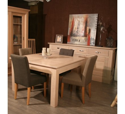 table carree allonge chene massif stockholm 125cm