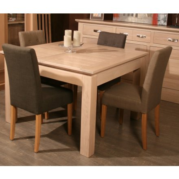 table carree allonge chene massif stockholm 125cm