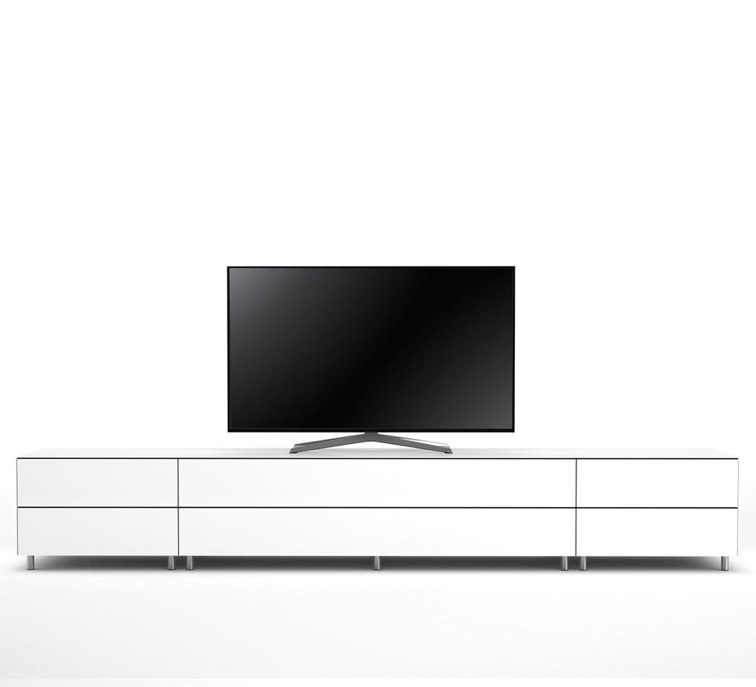 meuble tv design 290 cm epure salon k2 verre blanc