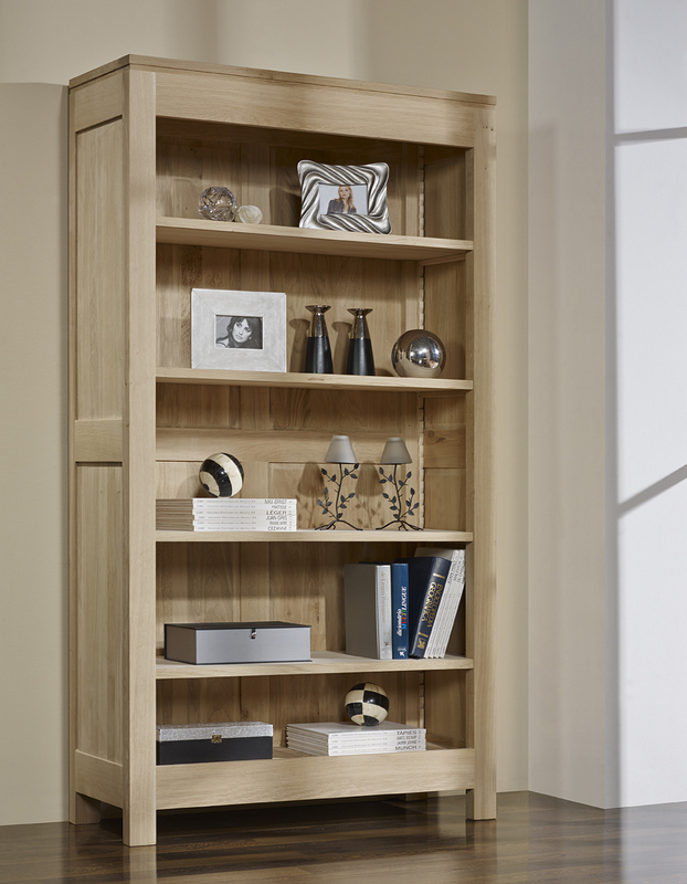 bibliotheque collection nature en chene massif 4 etageres finition chene brosse meuble en chene massif