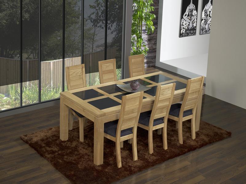 Table Contemporaine Chene Massif