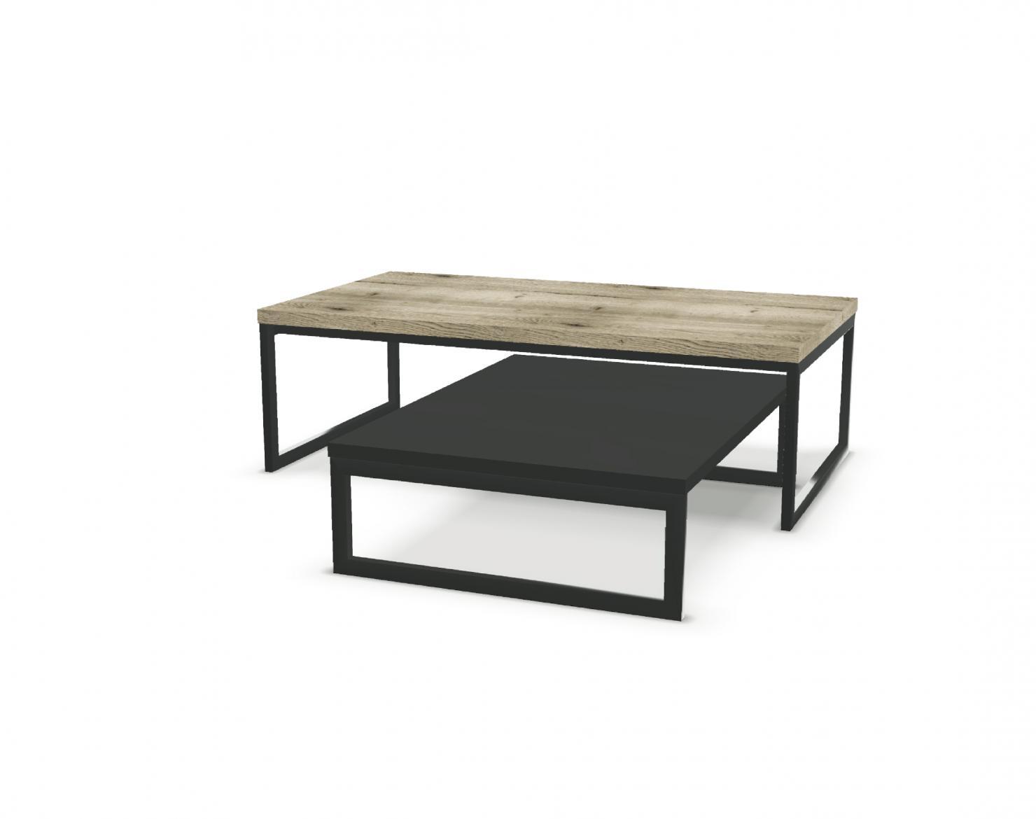 table basse gigogne rectangulaire