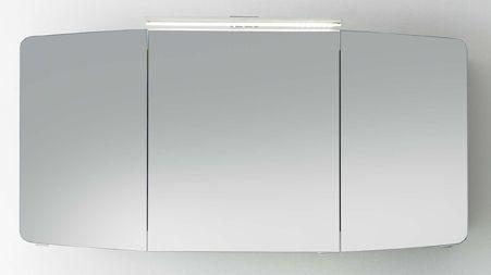 pelipal cassca armoire de toilette avec applique d eclairage led 120 cm