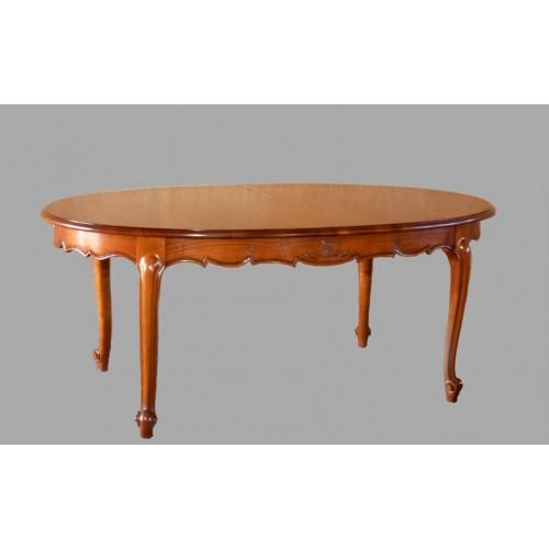 table ovale marguerite en merisier