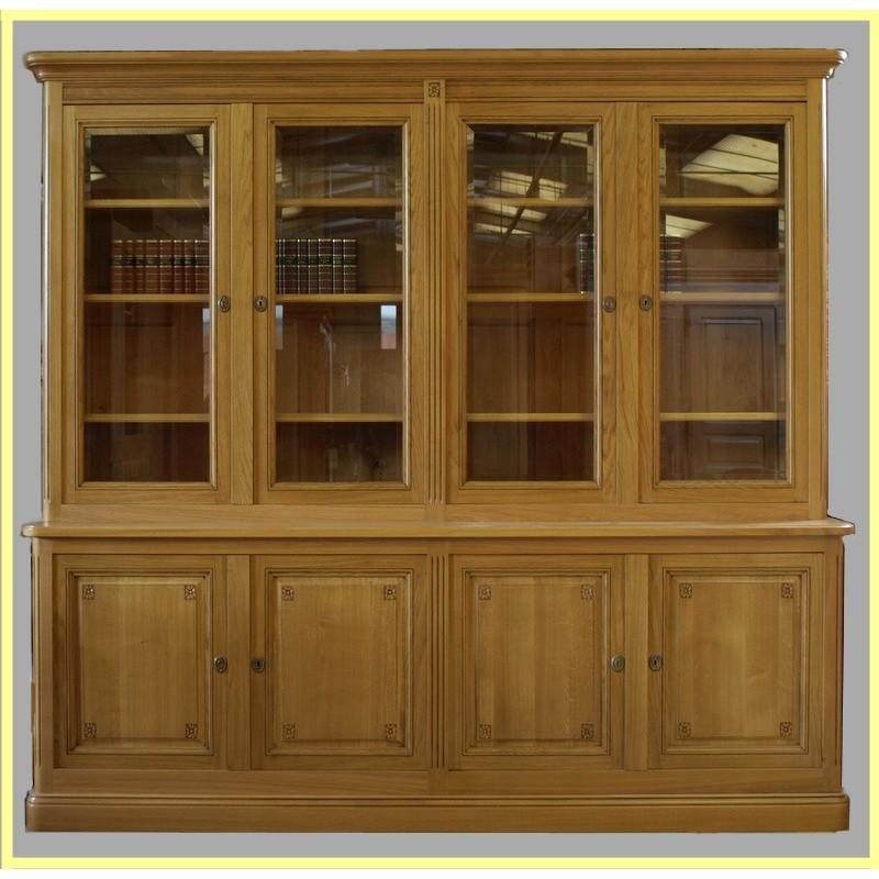 Bibliothque 4 Portes Louis XVI Chne Meubles De Normandie