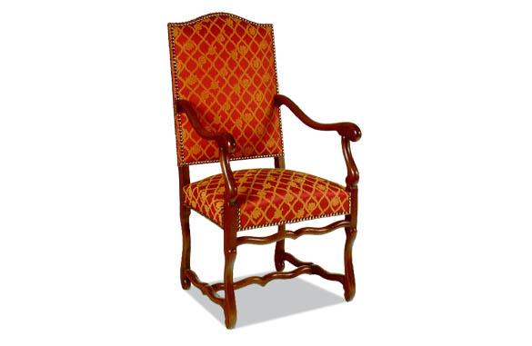 fauteuil louis xiii os de mouton
