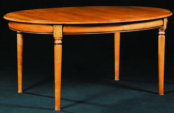 table ovale louis philippe merisier