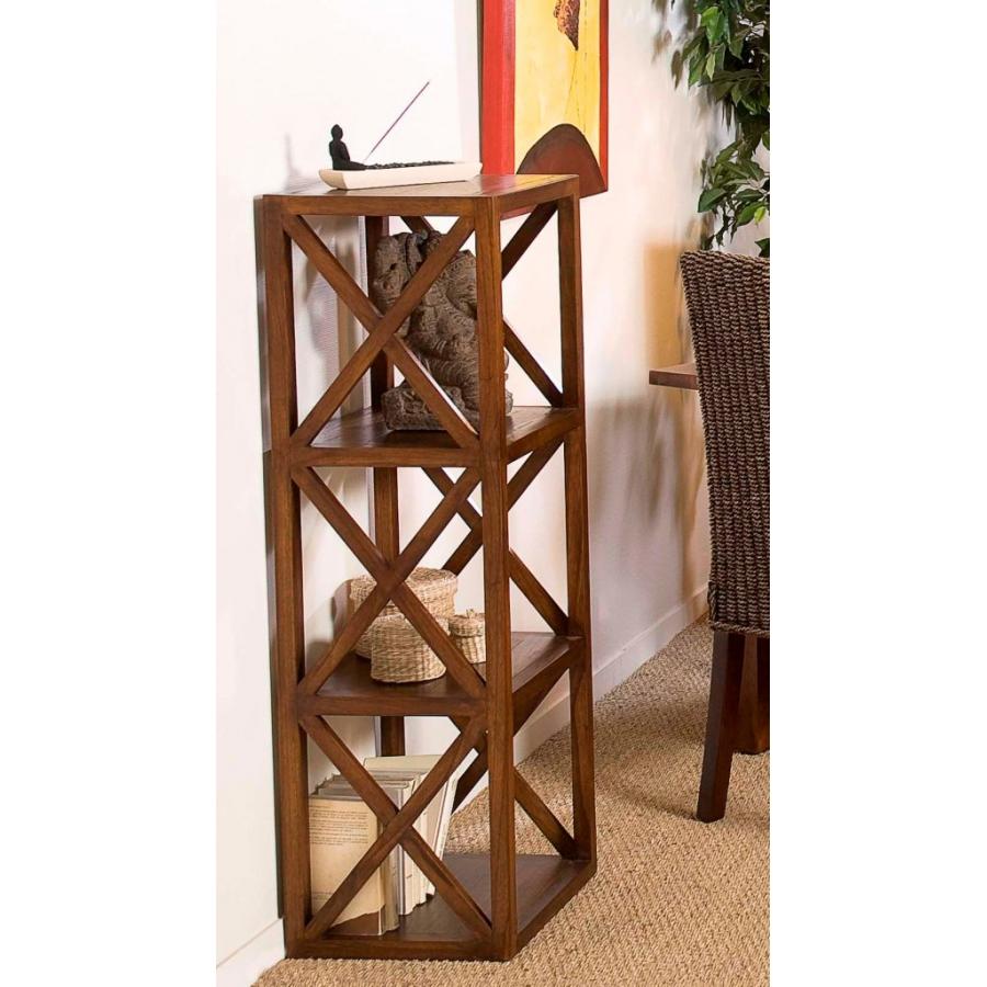 etagere bois 40 cm 3 cases croisillons