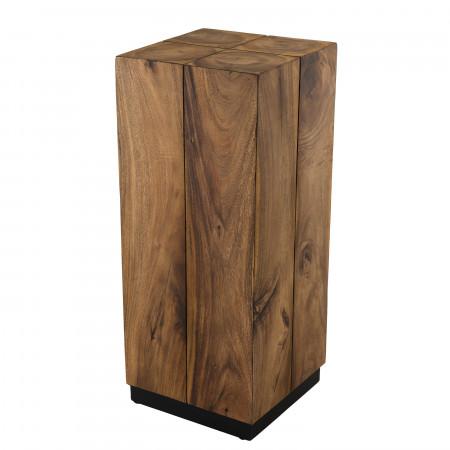 table d appoint bois carree haute 38x38cm bois suar