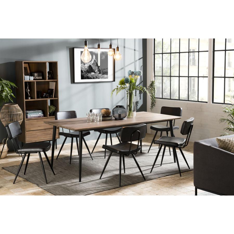 table a manger bois 200x100cm acacia pieds metal