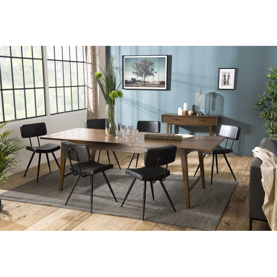 table a manger extensible 200 240cm bois mindi