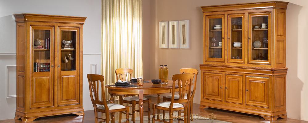 meuble bois massif salle a manger 100 merisier