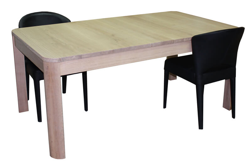 table rectangulaire chene blanchi