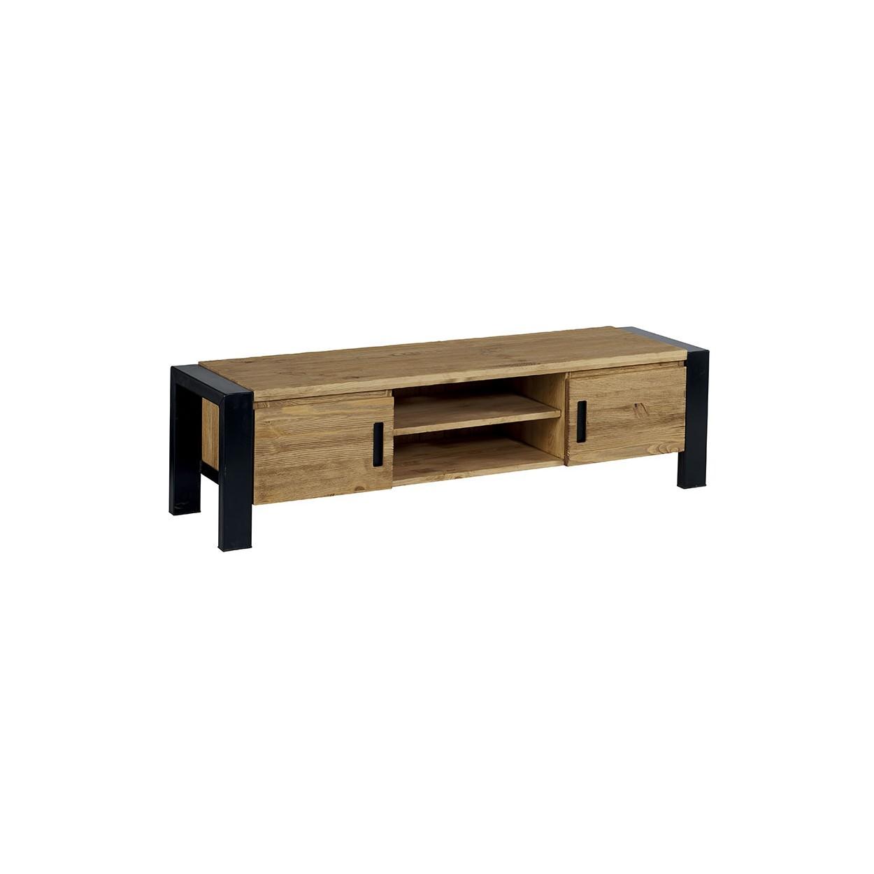 meuble tv 150cm pin brosse lugano
