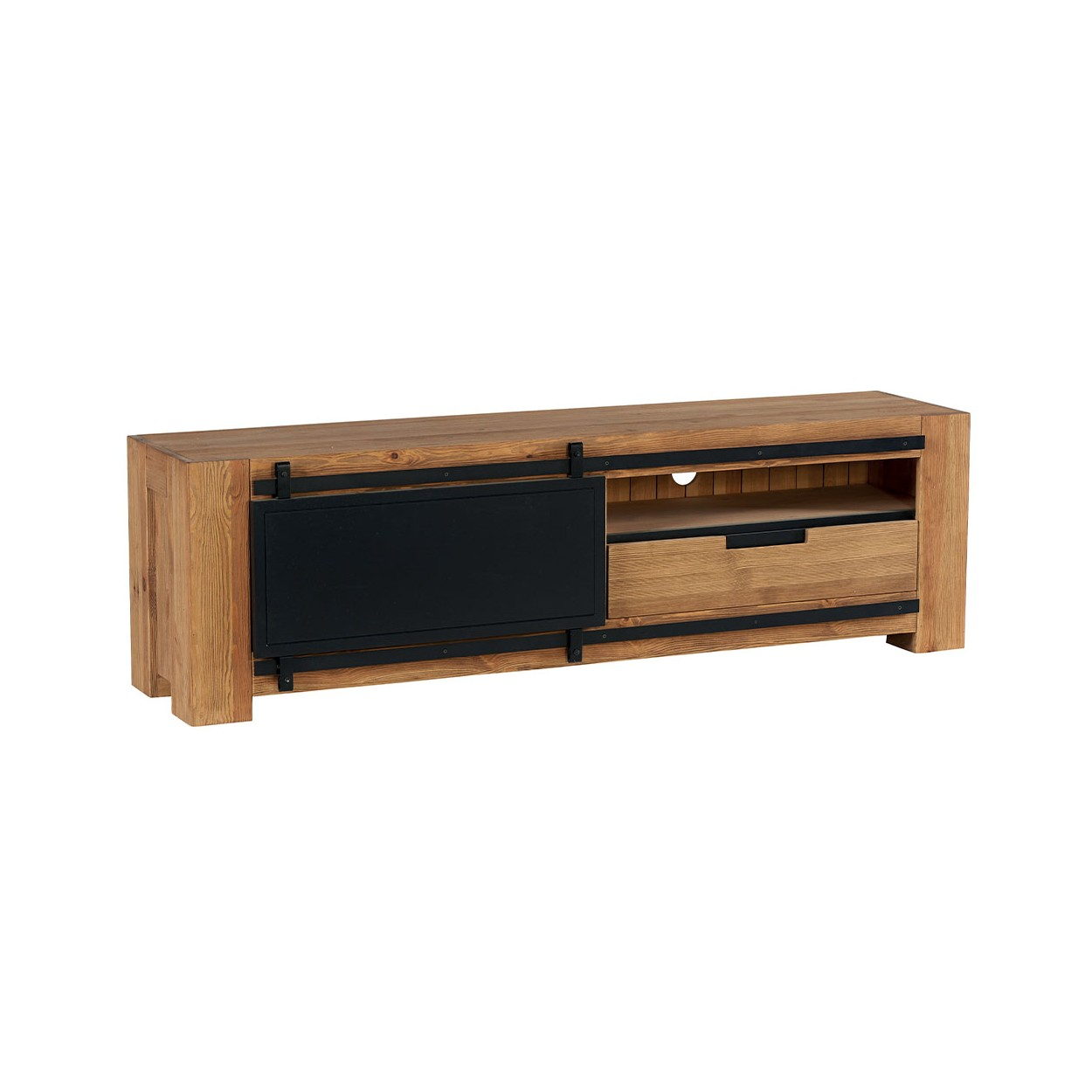 meuble tv 180cm pin massif coopers