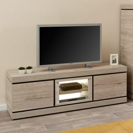 meuble tv 180cm en melamine gris belluno