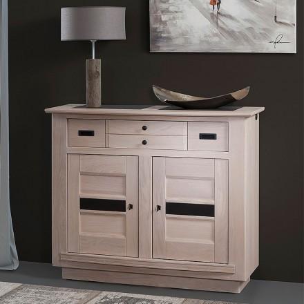 meuble d entree 2 portes 1 tiroir beline chene massif blanchi