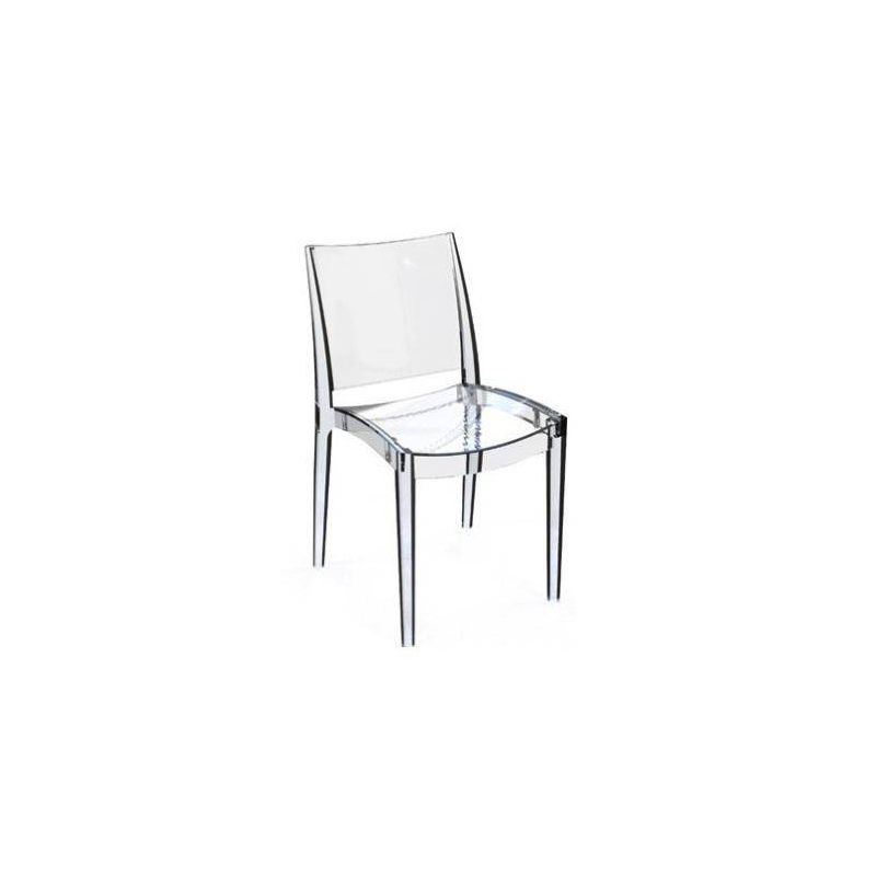 chaise polycarbonate chaise cristal
