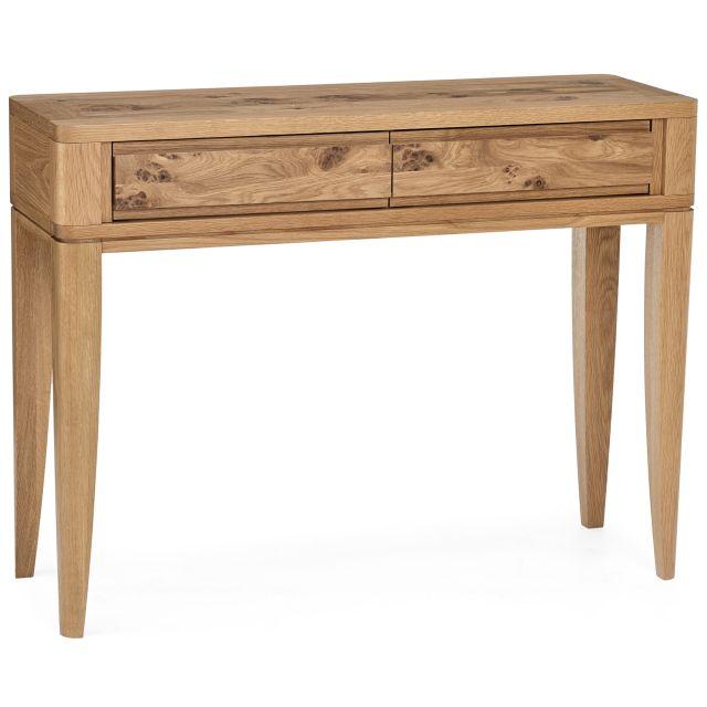 burrswood oak console table