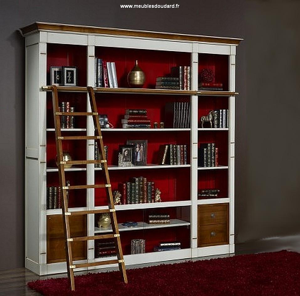 bibliotheque modulable merisier dh