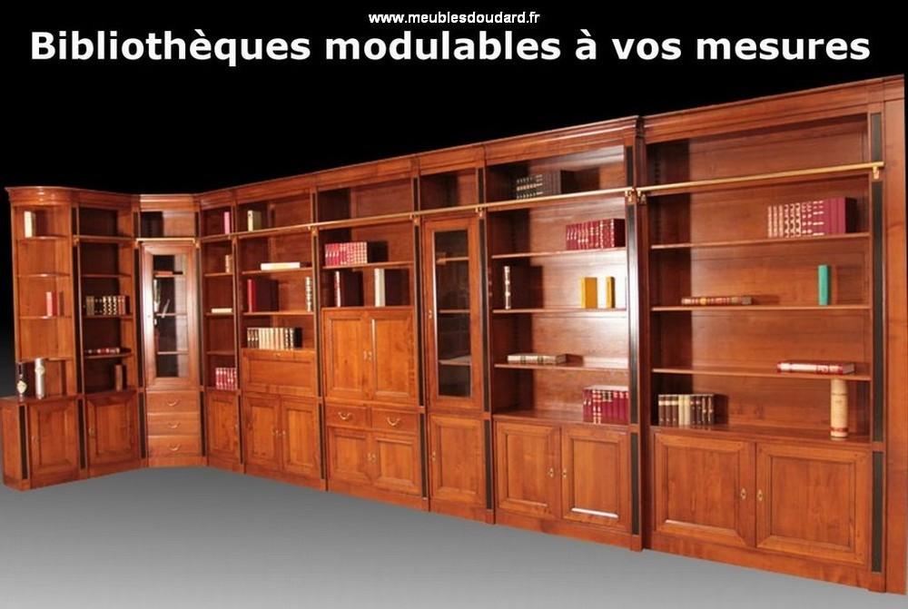 agencement meuble bibliotheque en bois
