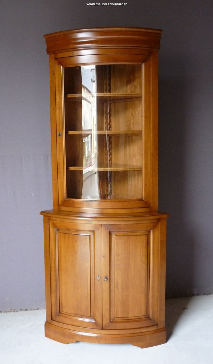 bibliotheque d angle merisier louis philippe ref r606