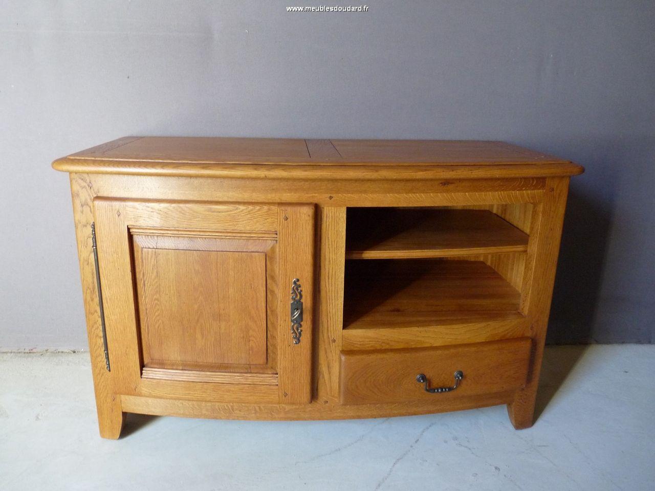 meuble tv en chene rustique bp 3071 bas