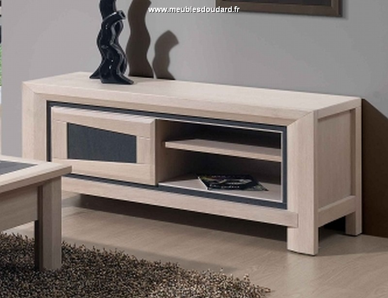 meuble tv libellule contemporain 1 porte 1 niche
