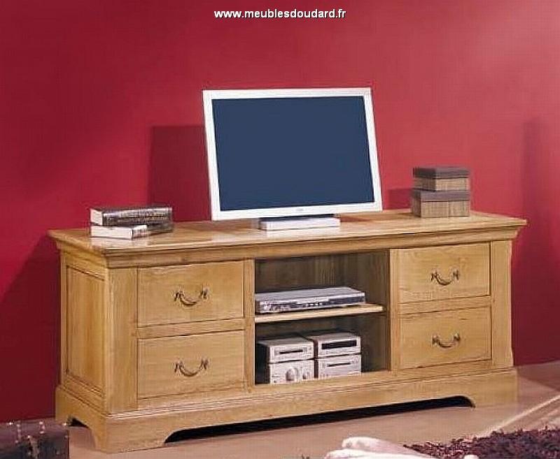 meuble tv rustique sarlat en chene
