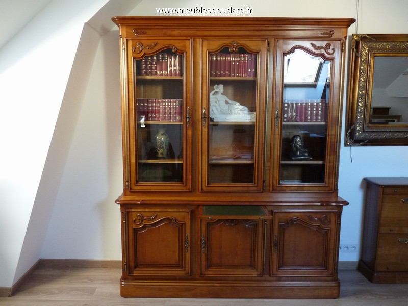 bibliotheque louis xv merisier sculptee