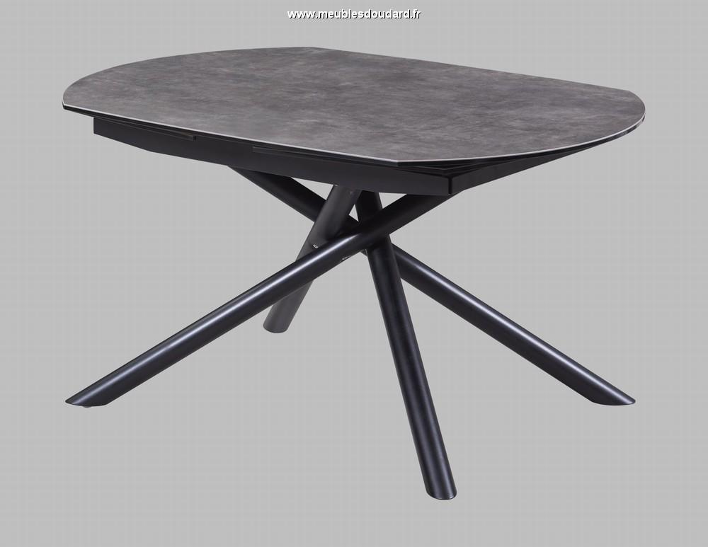 table moderne en ceramique pieds metal stan