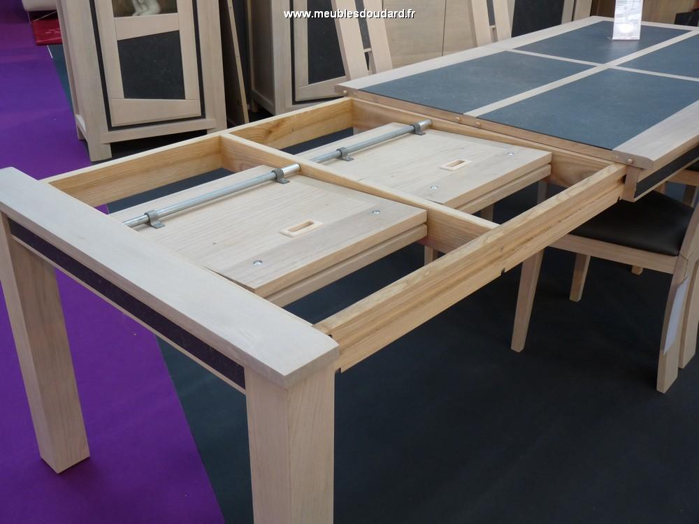 table rectangle libellule ceramique