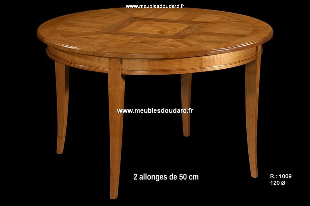 table ronde parquetee ref r1009 merisier