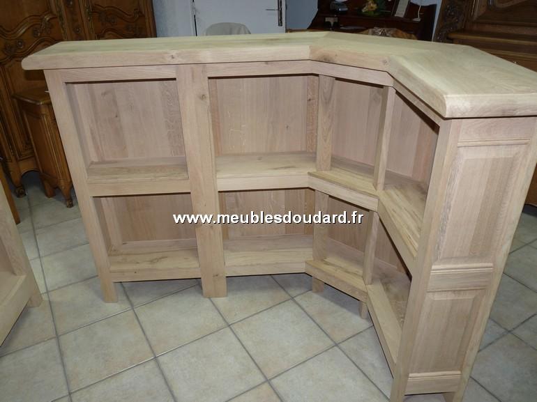 meuble bar comptoir en chene sur plinthe ref mu190b