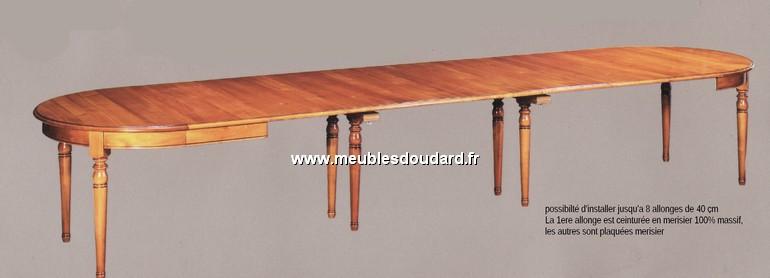table de salle a manger ronde en merisier louis philippe 2 allonges